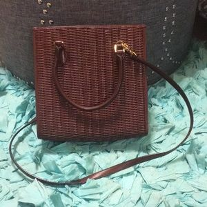 Etienne Aigner Genuine Leather Woven Bag